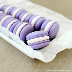 cassis macarons (italian macarons? no idea what the difference is between Italian and French, they look the same, and pretty)