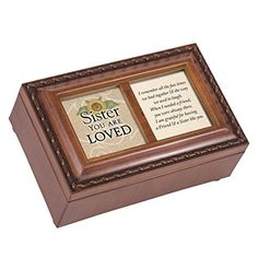 Sister You Are Loved Sunflower Wood