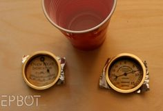 DIY Steampunk Gauges made from sliding door pulls