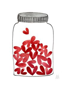This jar represents my heart. The hearts in the jar are all of your hearts. Your hearts fill my heart spaces with your love. We fill in one another's gaps and grow in love more perfectly.