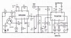 This tremolo effect circuit uses the and the IC which is designed as an electronic balance and volume regulator with frequency correction. Guitar Diy, Guitar Shop, Guitar Effects Pedals, Guitar Pedals, 2x72 Belt Grinder Plans, Boss Audio, Passive Radiator, Circuit Projects, Circuit Diagram