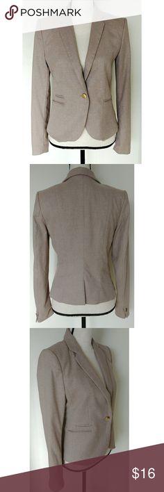 Women's Beige Lined Blazer Business Wear Beige Blazer by H&M H&M Jackets & Coats Blazers