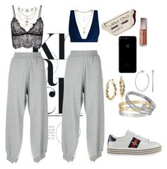 """""""Weekend uniform"""" by purpleivory ❤ liked on Polyvore featuring MM6 Maison Margiela, Anine Bing, Zimmermann, Gucci, Blue Nile, Sydney Evan, Cartier, Charlotte Russe, Miss Selfridge and Christian Dior"""