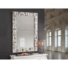 Espejo Mosaic Blanco Rectangular #Ambar #Muebles #Deco #Interiorismo #Espejos | http://www.ambar-muebles.com/espejo-mosaic-blanco-rectangular.html