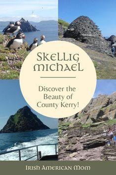 Take a tour of Skellig Michael off the coast of County Kerry, Ireland.  #irelandtravel #irishcoastline #irishisland #skelligmichael #starwarslocation #countykerry