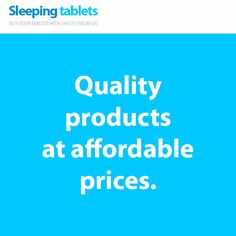 Quality products at affordable prices.