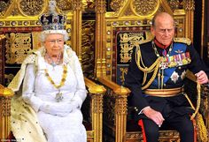 The couple pictured at the State Opening of Parliament in the House of Lords in 2014, whic...