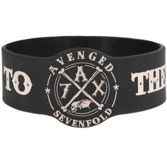 Avenged Sevenfold Hail To The King Rubber Bracelet | Hot Topic ($25) ❤ liked on Polyvore featuring jewelry, bracelets, rubber bracelets, rubber jewelry and rubber bangles