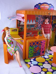 Vintage Mod Barbie Café Today 1970