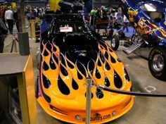 A pair of Funny Cars