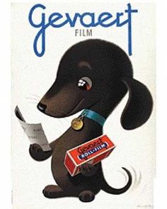 Vintage Animal Advertisements of Miscellaneous Years. What a darling dachshund poster! We DIG it. Vintage Labels, Vintage Ads, Vintage Posters, Dog Poster, Poster Ads, Film Posters, Illustrations, Illustration Art, Animals