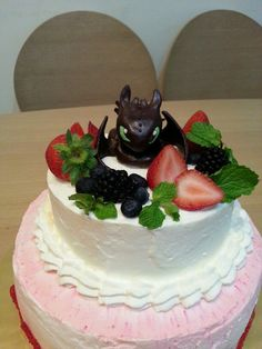 How to train your dragon cake.toothless.