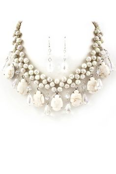 Snow Turquoise Necklace Set