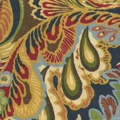 Giverny Cameleon Floral Drapery Fabric