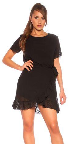 Φόρεμα mini WRAP LOOK Χρώμα: Μαύρο Σύνθεση: 65% POLYESTER, 30% VISCOSE, 5% ELASTANE Καλύπτει από Smaal έως Large Made in Italy Mini Wrap, Cold Shoulder Dress, Dresses, Fashion, Vestidos, Moda, Fashion Styles, Dress, Fashion Illustrations