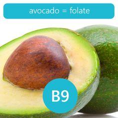 avocado: 146 DFE of folate per 100 grams!