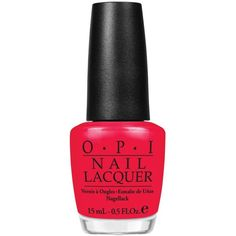 Red Lights Ahead...Where? Nail Lacquer ($18) ❤ liked on Polyvore
