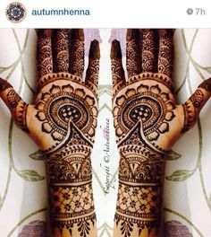 Love the look of this bridal henna / mendhi. So beautiful! Check out more desings at: http://www.mehndiequalshenna.com/