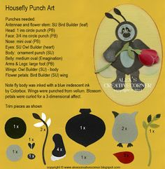 Alex's Creative Corner: Fly punch art instructionns