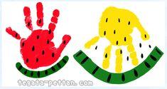 手形アートのスイカのデザイン案を紹介!手形・足形どっちも作れる! | 手形アート☆ぺったん Diy Keychain, Watermelon, Arts And Crafts, Kids Rugs, Babys, Prints, Design, Activities, Babies