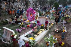 Cemetery at Leon Guanajuato, Mexico during Day of the Dead on November 2, 2012. Description from commons.wikimedia.org. I searched for this on bing.com/images