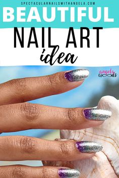 Looking for a beautiful summer nail art design? Bring the magic with Pacific Waters, a glittering silver, sea green, and purple gradient - so perfect for the beach! You're going to become obsessed with this pretty nail art. Rock summer with this unique nail art design and instantly graduate your nail art design from basic to brilliant in minutes. Shop now and get a perfect for the beach summer nail polish idea with Color Street! #nailpolishcolors #naturalnailpolishcolor Natural Nail Polish Color, Nail Polish Colors, Pretty Nail Art, Beautiful Nail Art, Summer Nail Polish, Nail Length, Nail Polish Strips, Nail Bar, Color Street Nails
