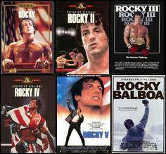 Gotta love the Rocky series! Rocky Sylvester Stallone, Stallone Rocky, Rocky Ii, Rocky Balboa, Movies Showing, Movies And Tv Shows, Rocky Series, Silvester Stallone, Cinema Tv