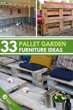 Wood pallets are simple to come by and can be used to make so many things from garden beds to furniture. In fact, here are 33 ideas for garden pallet furniture you could use in your own yard. Garden Furniture Inspiration, Garden Furniture Design, Pallet Garden Furniture, Pallets Garden, Furniture Projects, Furniture Decor, Modern Furniture, Wood Pallets, Garden Design