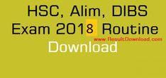HSC Alim Exam Routine 2018 All Education Board... Alim Exam Routine 2018 download....HSC Exam Routine 2018....DIBS, Vocational routine..