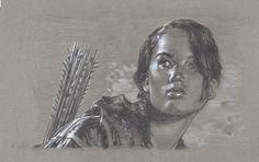 Jennifer Lawrence, Katniss Everdeen, Original Drawing By Jeff Lafferty Hunger Games Drawings, Jennifer Lawrence Hunger Games, Traditional Artwork, Katniss Everdeen, Comic Art, Fantasy Art, Pop Art, Original Art, Art Gallery