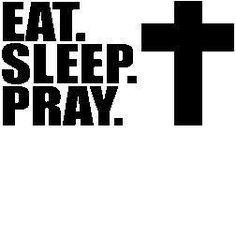 New Custom Screen Printed Tshirt  Eat Sleep Pray