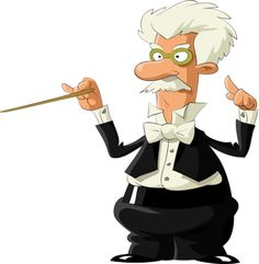 The mighty orchestra director...
