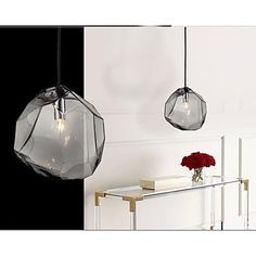 Pendant Lights 1 Light Modern   Smoke Gray  Metal and Glass – GBP £ 81.75