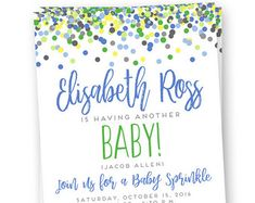 Custom Invite Baby Sprinkle invitation Rainbow by BrideandBows