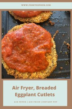 Air Fryer, Breaded Eggplant Cutlets