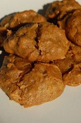 Last weekend, all my Hachiya persimmons in the garage decided to ripen at the same time, and when I had pureed all the pulp, the first thing I did was make a batch of these persimmon cookies, a rec…