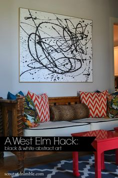 That space above your sofa can be intimidating to fill. Take this tip from the decorating pros: Choose art that's two-thirds as wide as the couch—never the same width—and hang it, centered, so that its midpoint is about 60 inches from the floor and its bottom edge about 8 to 10 inches above the sofa back.