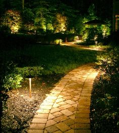 landscape lighting Upscale lighting installation in Houston, TX - We install all brands and quality of outdoor lighting systems in Houston, TX. Free night time demonstration. Our led lighting options come with a lifetime warranty.  http://www.miksolutions.com/pathway-lighting-.html