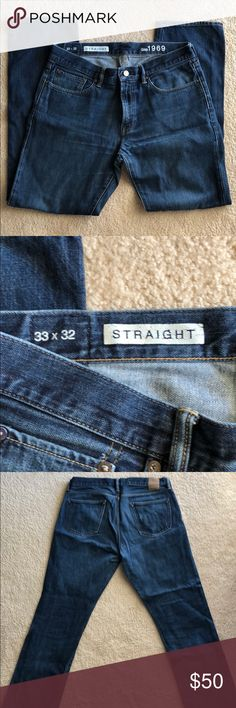 Gap mens jeans 33x32 Men's straight leg Gap jeans 33 x 32. Lightly used but good condition GAP Jeans Straight