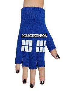 Doctor Who TARDIS Fingerless Gloves Hot Topic