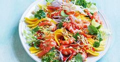 Combine prawns and fresh mango for a quick and easy no-cook summer salad.