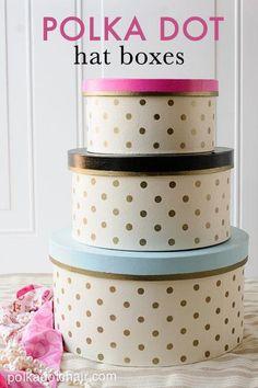 DIY Polka Dots : DIY Polka Dot Hat box