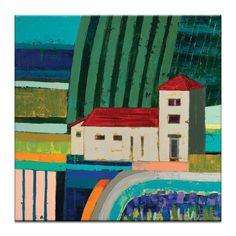 Artist Lane Kyneton by Anna Blatman Art Print on Canvas