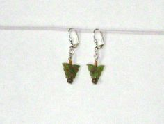 Butterfly Carved Peridot Earrings with by earthborngoddes on Etsy, $4.99