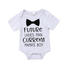 Future Ladies Man Current Mama's Boy Onesie - Baby Boy Names Baby Girl Names Boy Onsies, Newborn Onesies, Funny Baby Boy Onesies, Funny Baby Clothes, Lady, Cute Toddlers, After Baby, Summer Baby, Funny Babies