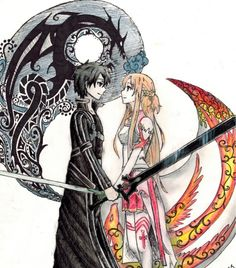 I have always shipped Kirito and Asuna. It frustrates me whenever I see someone who ships him with sinon because he and asuna have been through way more together and Sinon doesn't respect their love for each other. Asuna killed herself for kirito and they would practically do anything for each other. It blows my mind anyone could not love the asuna x kirito ship.