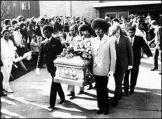On October 1, 1970, Jimi Hendrix was buried in Renton, Washington. Among the attendees were Miles Davis, Eddie Kramer, Johnny Winter, John Hammond Jr., Buddy Miles, Mitch Mitchell and Noel Redding.