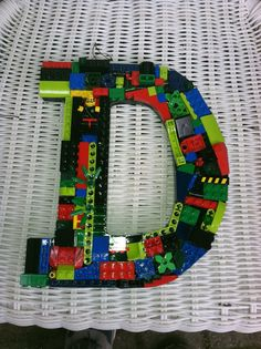Custom LEGO LETTER  D by MosaicTreasureBox on Etsy
