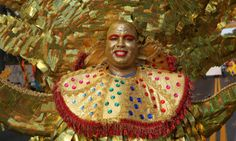 A dancer takes part in the carnival of the Dominican Republic, the biggest cultural event in the country, held in the capital Santo Domingo.