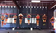 Crossfit girls WOD before bachelorette  party.......I am so doing this before mine!